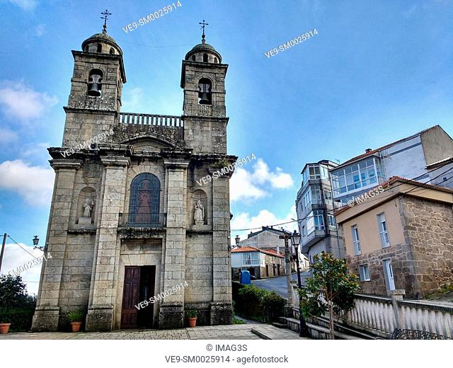 Church of Santa Isabel in Castro Caldelas, Orense province, Ribeira Sacra, Galicia, Spain