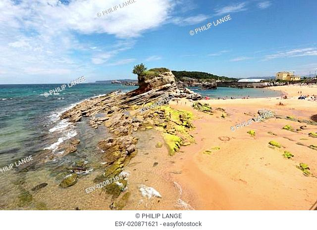 Beach in Santander, Cantabria, Spain