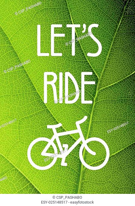 Ecology bicycle poster illustration