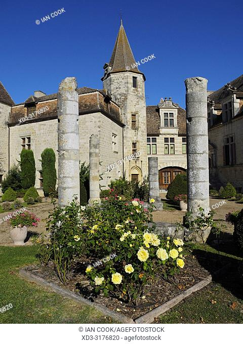 Chateau Ducal, Lauzun, Lot-et-Garonne Department, Nouvelle Aquitaine, France