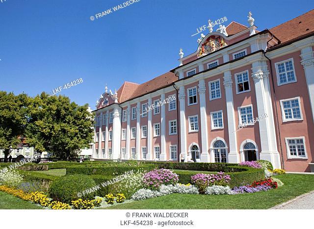 New castle in Meersburg, Lake Constance, Swabia, Baden-Wuerttemberg, Germany, Europe