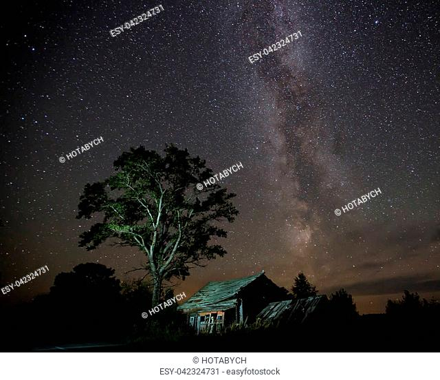 The Milky Way and the old house