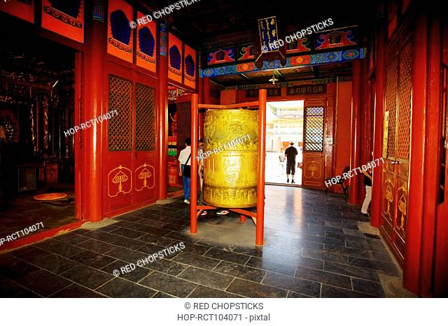 Tourists in a temple, Da Zhao Temple, Hohhot, Inner Mongolia, China