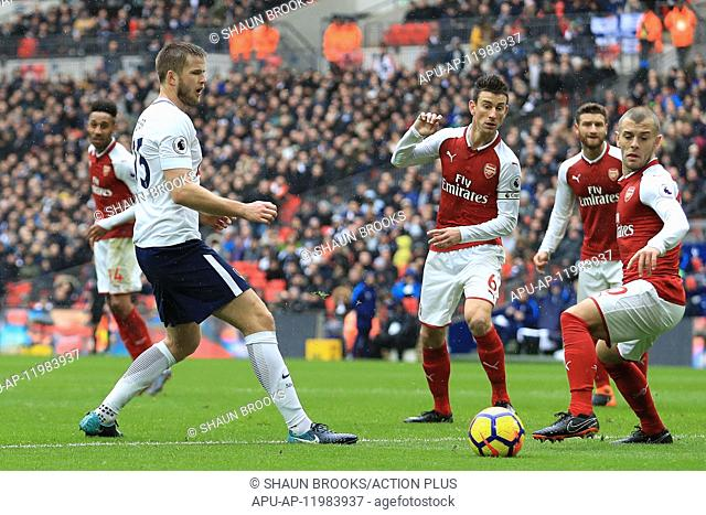 2018 EPL Premier League Football Tottenham Hotspur v Arsenal Feb 10th. 10th February 2018, Wembley Stadium, London England; EPL Premier League football