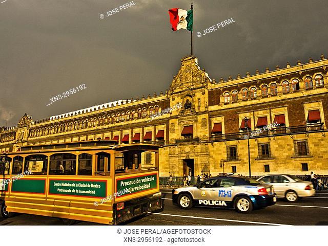 National Palace, Palacio Nacional, Presidential Palace, Constitution Square, Plaza de la Constitución, the Zócalo, Mexico City, Mexico