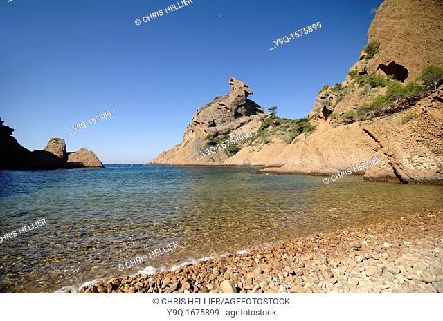 Calanque de Figuerolles Beach Cove and Le Bec d'Aigle La Ciotat Bouches-du-Rhône Provence France