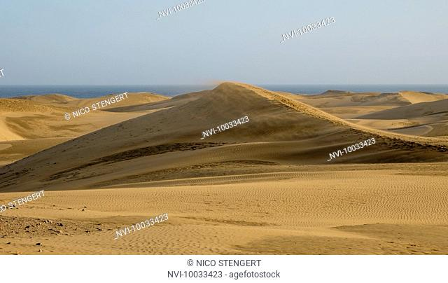 Dunes on the beach of Maspalomas, Gran Canaria, Canary Islands, Spain