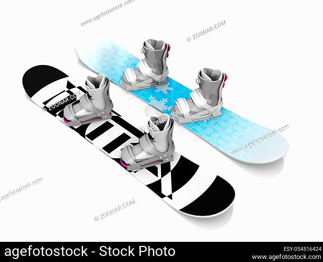 surfboard on a white background