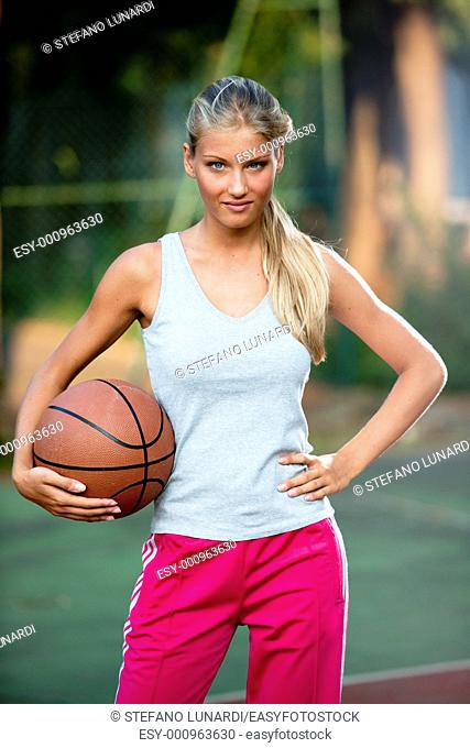 Portrait of a female basketball player