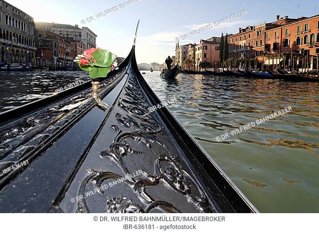 Gondola, Grand Canal, Sestieri San Marco (San Marco district), Venice, Italy