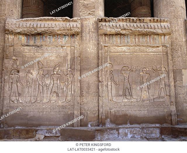 The Egyptian city of Esna or Isna is located on the west bank of the River Nile, some 55 km south of Luxor. There are fine examples of relief carvings of...