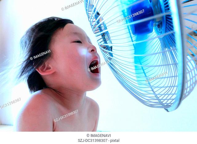 Fan and children