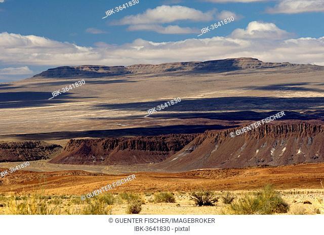 Desert-like landscape with barren hills in Richtersveld, Ai-Ais Richtersveld Transfrontier Park, Northern Cape, South Africa