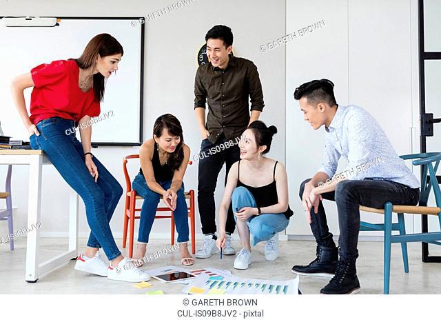 Team of colleagues brainstorming ideas