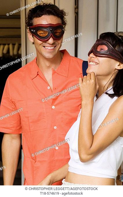 couple wearing mask