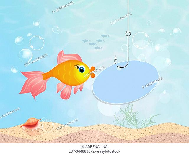 illustration of red fish in the sea