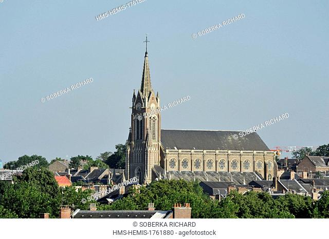 France, Somme, Amiens, Church Saint Martin