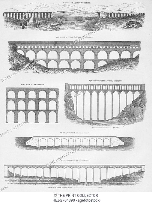 Aqueducts, 1889. Creator: W & AK Johnston
