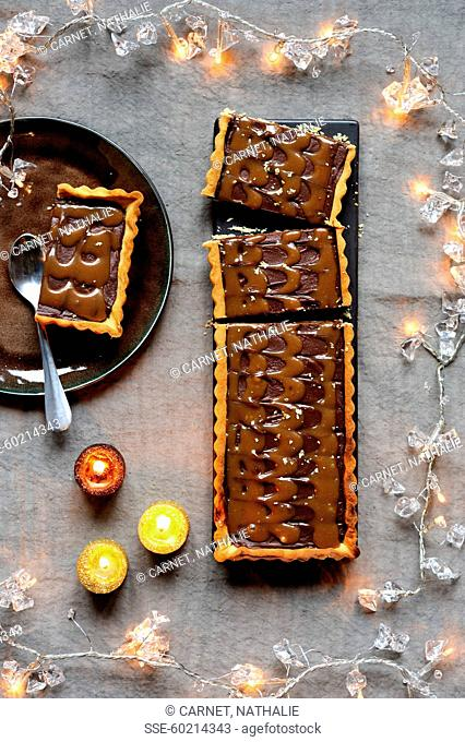 Chocolate-toffee tart