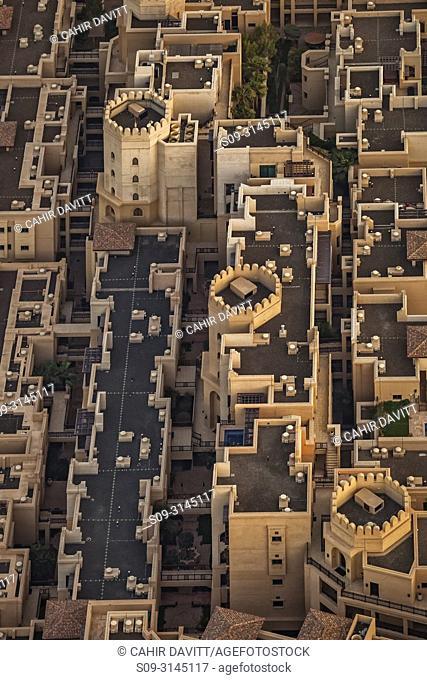 Aerial view of the Souk Al Bahr, Downtown Dubai, Dubai, Dubayy, United Arab Emirates