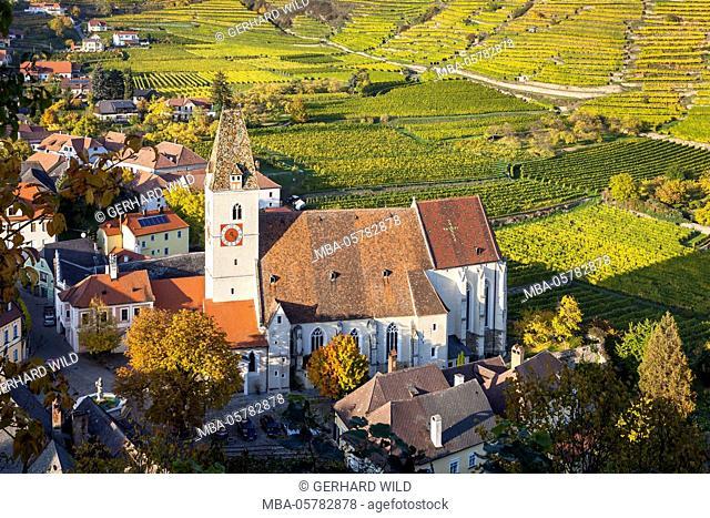 Parish church Holy Mauritius in Spitz on the Danube, Wachau, Lower Austria, Austria, Europe