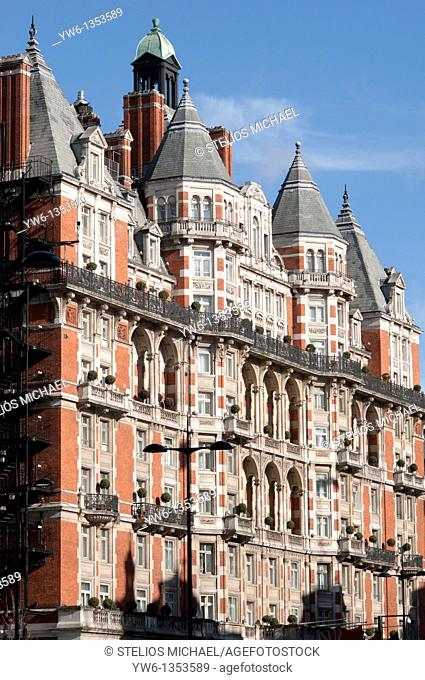 Victorian apartment building in Knightsbridge,London
