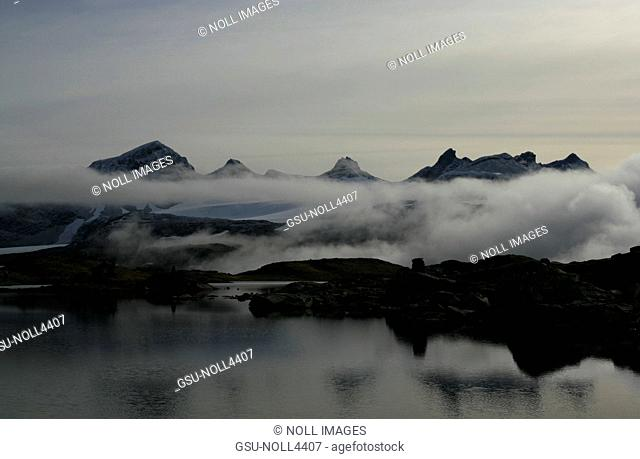 Mountains and Low Clouds, Norway