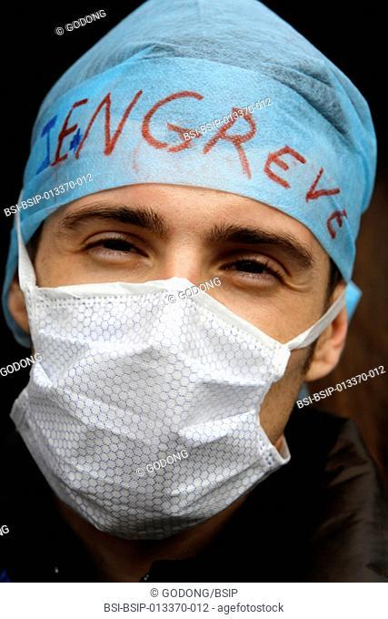Medical interns demontrate against Marisol Touraine's health policies. Paris, France, 20th November 2012