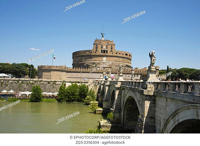 Castel Sant' Angelo or Castle of Saint Angelo, Rome, Italy