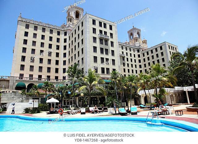 Pool Majestic Hotel Nacional in Vedado, Havana, Cuba