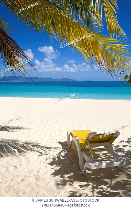 Rendezvous Bay Beach on the caribbean island of Anguilla in the British West Indies