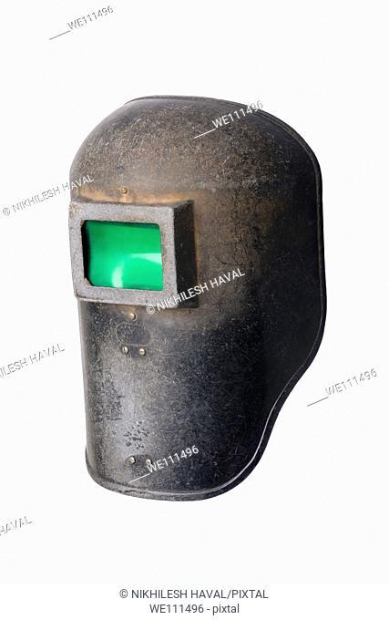 Used old welding helmet mask