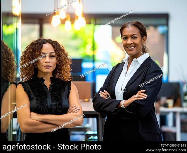 Portrait of two business women in office