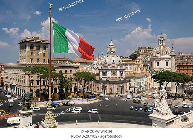 Capitol square, Church Santa Maria Di Loreto, church Santissimo Nome Di Maria, Rome, Lazio, Italy, Santissimo Nome di Maria al Foro Traiano