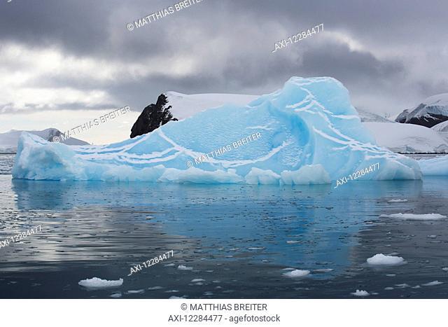 Iceberg in Paradise Harbor, Antarctic Peninsula; Antarctica