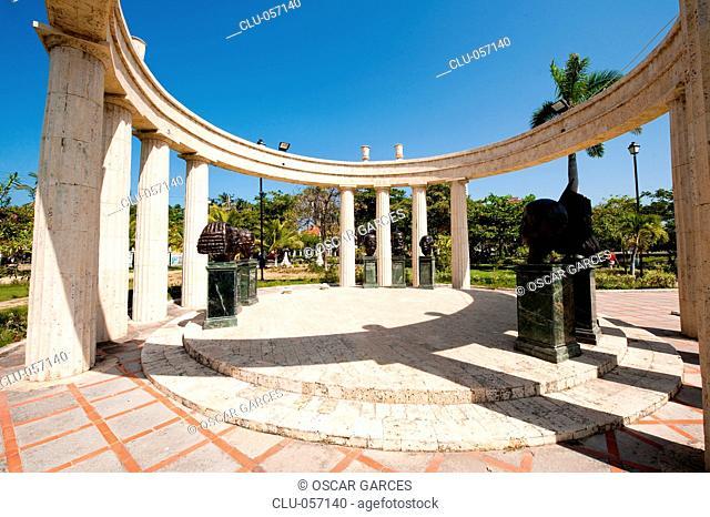 Tribute to the 1886 Constitution, Neighborhood El Cabrero, Cartagena, Bolivar, Colombia