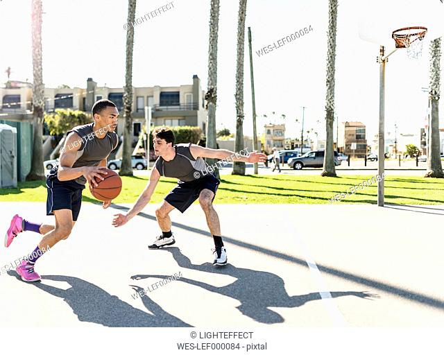 USA, Los Angeles, basketball training