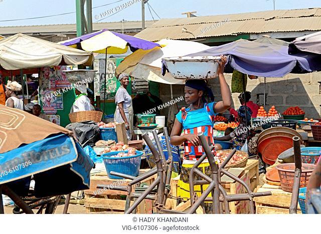 AGBOGBLOSHI MARKET ACCRA GHANA - 10/02/2015