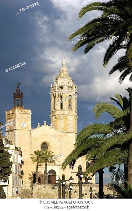Church, Sitges. Barcelona province, Catalonia, Spain