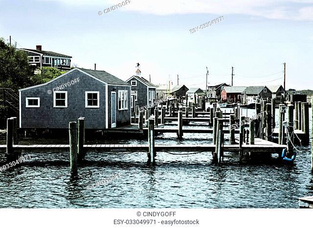 Beautiful fishing village of Menemsha on Martha's Vineyard in Massachusetts