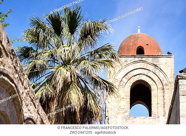 St. John of the Hermits and tropical garden. Palermo, Sicily. Italy