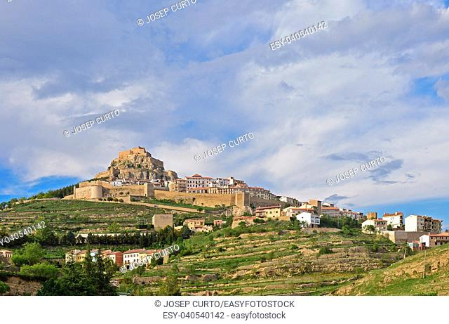 View of Marella on a spring day, Castellon province, Spain