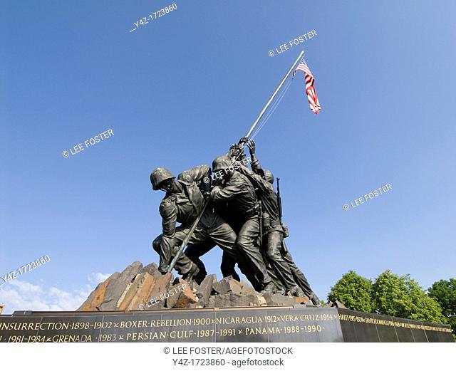 Washington DC, USA, the Iwo Jima Marine Corps War Memorial in Arlington, Virginia