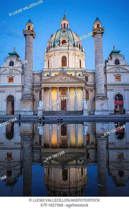 St  Charles Church or Karlskirche,Vienna, Austria, Europe