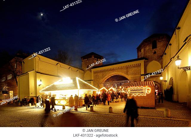 Christmas market at Sendling Gate, Munich, Bavaria, Germany