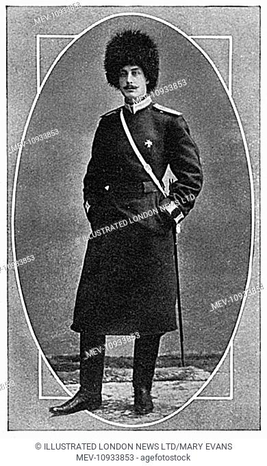 Count Peter Benckendorff, son of the Russian Ambassador in London who was killed in action near Kovno at the age of thirty in 1915
