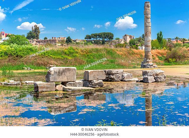 Ruins of Temple of Artemis, Ephesus, Selcuk, Izmir Province, Turkey