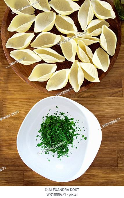 Preparing Noodle Bake