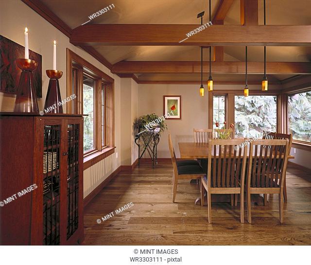 Large Hardwood Dining Room