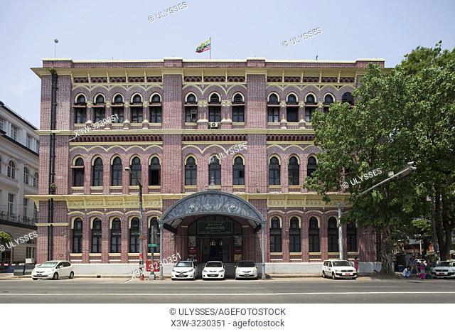 Central Post Office built in 1908, Yangon, Myanmar, Asia